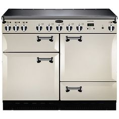 Buy Ivory/Chrome Rangemaster Leckford Dual Fuel Range Cooker from our Cookers range at John Lewis & Partners. Free Delivery on orders over Best Range Cookers, Dual Fuel Range Cookers, Barn Kitchen, Kitchen Ideas, Kitchen Inspiration, Kitchen Living, Country Kitchen, Living Room, Induction Range Cooker