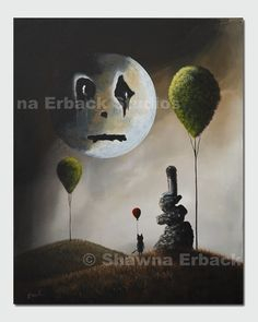 Gothic Fantasy ART PRINT large 11x14 on canvas by shawnaerback, $99.00