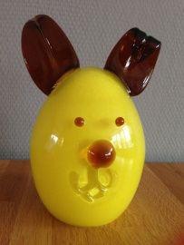 Villeroy & Boch bunny handgemaakt van glas geel