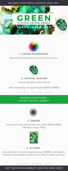 The powerful emotional triggers of green + crystal healing of green gemstones. Learn how to manifest green energy in your life!