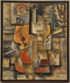 23 Pablo Picasso - Violon & raisins (1912)