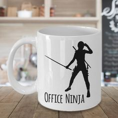 Administrative Professionals Day is April 26th! Administrative Assistant Gift / Office Ninja Coffee Mug