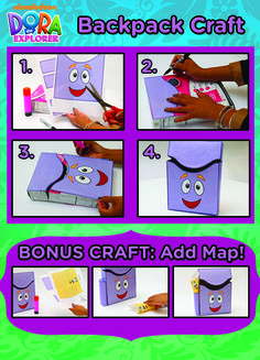 Turn a cereal box into a Dora the Explorer cute storage box for kids.