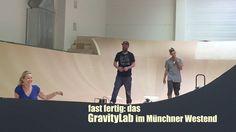 kurz vor der Vollendung: Freestyle-Trainingshalle GravityLab im Münchner...