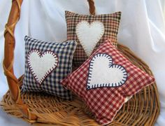 Heart decorations by patchesnthings on Etsy . .cute!