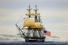 Uss Constitution Painting by James Williamson