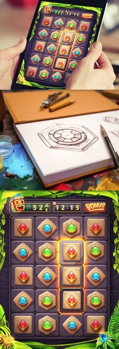 iOS Game Collection l Concepts by Mike, via Behance