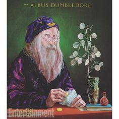 Dumbledore, as depicted by Jim Kay in the new illustrated edition of Harry Potter and thre Sorcerer's Stone. #harrypotterillustrated