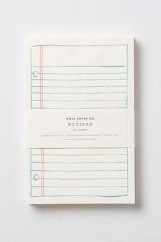 Schoolyard Notepad #anthropologie