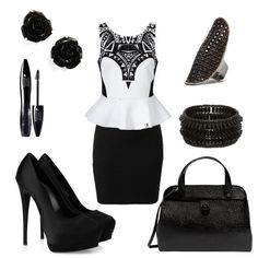 An entry for the Black and White fashion contest