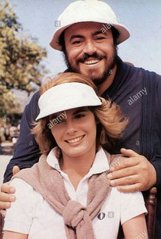 """Luciano Pavarotti with Kathryn Harrold for movie """"Yes Giorgio""""!!"""