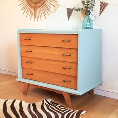Chest of drawers dresser cabinet vintage mid by ChouetteFabrique