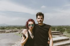 Teotihuacan Pyramid Engagement Photos | Aztec pre-Colombian inspired Mexico City wedding photographer pyramid of the sun pyramid of the moon