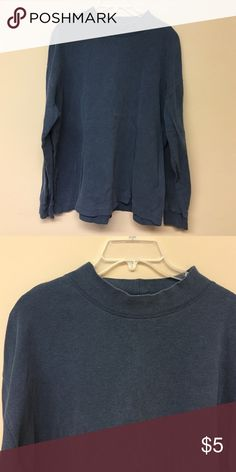 Very faded navy men's mock turtleneck St. John's Bay mock turtleneck. It's faded but I'm not asking much would be good bundled with something else or would even give it to you if you order something else and want it 😬 St. John's Bay Shirts Tees - Long Sleeve