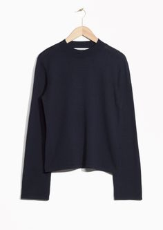 & Other Stories image 1 of Merino Wool Fine Knit  in Navy