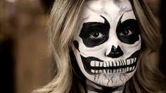 Skeleton makeup for #Halloween