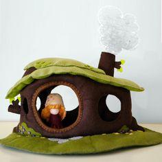 Dollhouse / mushroom / playscape / play mat / plus one Shroomper. $225.00, via Etsy.