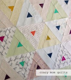 crazy mom quilts: what to make when friends give you scraps