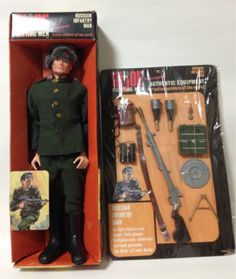 Hasbro GI Joe Russian soldier Vintage 1966 w/ Box & Accessories Rare JAPAN 1043