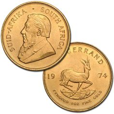 South African Krugerrand Gold Coin (1 Oz)
