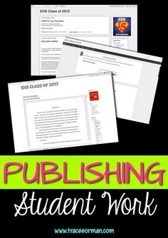 Publishing Student Work: The benefits of publishing student work and how to do it. Teacher Blogs, Teacher Resources, Teacher Apps, Teacher Stuff, Writing Workshop, Writing Prompts, Narrative Writing, Writing Ideas, Teaching Writing