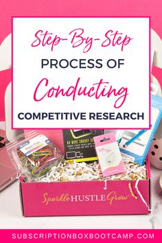 In this episode, Julie walks you through step-by-step her process of conducting competitive research. This will be a fun and impactful exercise to help make your box idea unique and even better. Start a Subscription Box, Start a Sub Box, How to start a subscription box, How to Make Money, Entrepreneur Inspiration, Business Thoughts, Business Plan Execution, Business Launch Ideas, Subscription Box Business, Business Coaching, Trendy Business Ideas! #business #subscriptionbox #prelaunch