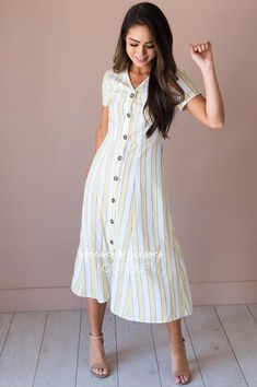 The Dolly Cute Modest Outfits, Modest Skirts, Casual Outfits, Dolly Dress, Denim Skirt Outfits, Modest Fashion, Women's Fashion, Ladies Dress Design, Summer Wardrobe