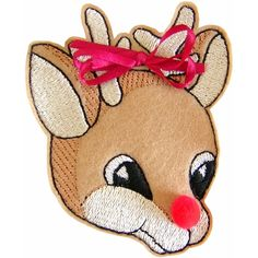 Reindeer Sew-in-the-Hoop Treatbag Embroidery Design