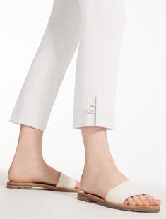 "Cotton satin trousers, ivory - ""GUGLIA"" Max Mara"