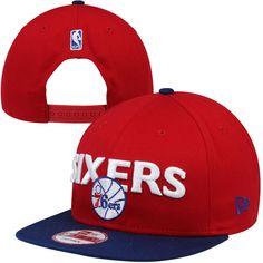 e09c1e7eef4 New Era Philadelphia 76ers Current Logo 9FIFTY Snapback Hat - Red Royal  Blue