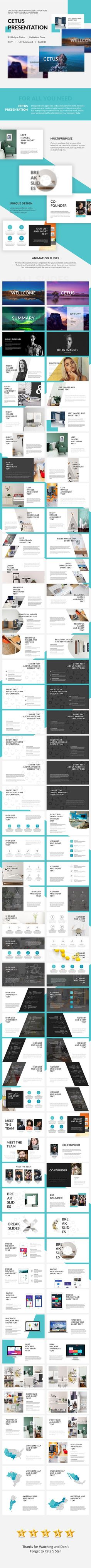 Cetus Powerpoint — Powerpoint PPTX #clean presentation #animated presentation • Available here ➝ https://graphicriver.net/item/cetus-powerpoint/20574348?ref=pxcr