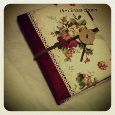 Handmade AnnaSui fabric notebook journal