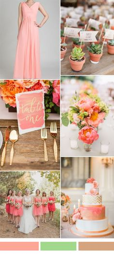 simon and gold wedding color ideas and chiffon long bridesmaid dress