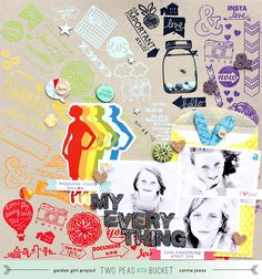 You, Me & Crazy - Love all of the stamped images to make the background.
