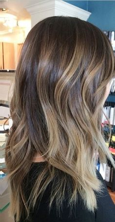 brunette ombre balayage highlights