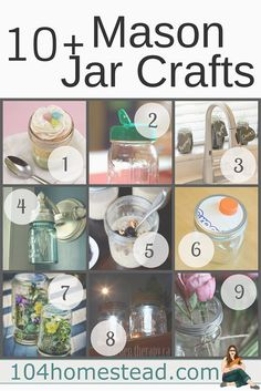 Do you love crafting with mason jars? Here are ten quick and inexpensive DIYs you'll absolutely love.
