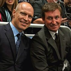 Messier and Gretzky at the Stanley cup finals 2012