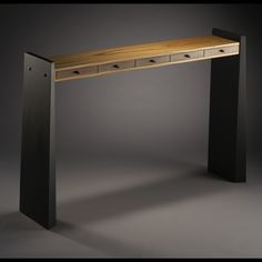 "Custom Made Contemporary Hall Table ""Slim"" by Hubel Handcrafted 