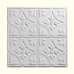 Genesis 2 ft. x 2 ft. Antique White Ceiling Tile 752-00 at The Home Depot - Mobile