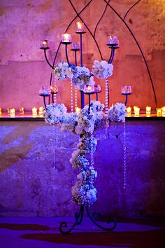 Tall candle centerpiece