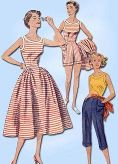 1950s Vintage Simplicity Sewing Pattern 4290 Uncut Misses Summer Wardrobe Sz 12