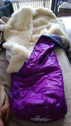 pelzdeckenschlafsack Sheepskin lined sleeping bag.