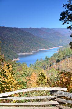 Lake Fontana near Bryson City, NC   (I used to live in a boat house on Fontana)