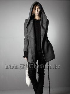 2015 nouveau manteau d'hiver outwear mode britannique style punk gothique hommes vêtements Slim capuche hommes yuppies vêtements de laine manteau dans Laine et mélanges de Accessoires et vêtements pour hommes sur AliExpress.com | Alibaba Group