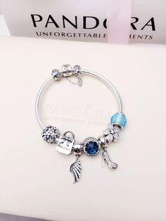50% OFF!!! $219 Pandora Charm Bracelet Blue. Hot Sale!!! SKU: CB02015 - PANDORA Bracelet Ideas