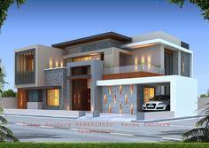 Modern Small House Design, Modern Exterior House Designs, Modern Villa Design, Latest House Designs, Modern Architecture House, Village House Design, Kerala House Design, Bungalow House Design, House Outside Design