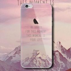 """""""BE HAPPY FOR THIS MOMENT """"mobile phone case for iPhone7 7S 7 7Splus iphone 5 5s SE 6 6s 6 plus 6s plus + Nice gift box 072301"""