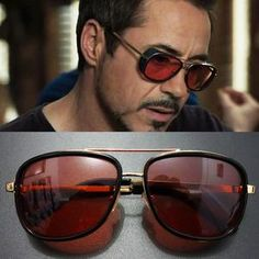 Tony Stark Iron Man Sunglasses Men Eyewear Mirror Punk Sun Glasses Vin                      – Hot Sale Products free ship to worldwide