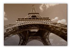 Eiffel Tower Perspective Alu Dibond from K&L Wall Art. Beautiful picture with silver effect as a wall decoration for any room! This and more decorating ideas available at www.wall-art.com!