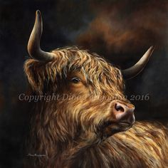 Choose your favorite farm animals paintings from millions of available designs. All farm animals paintings ship within 48 hours and include a money-back guarantee. Highland Cow Painting, Highland Cow Art, Scottish Highland Cow, Highland Cattle, Highland Cow Canvas, Fluffy Cows, Cow Pictures, Farm Yard, Artist Gallery